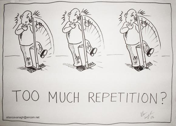 repetition cartoon