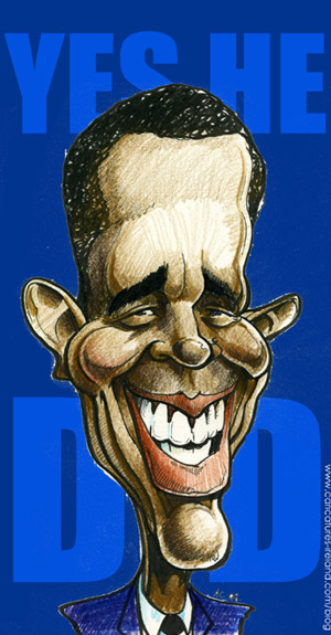 Barack Obama cartoon