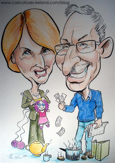 Here 39s a caricature I recently completed for a 30th wedding anniversary