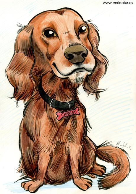 caricature picture dog