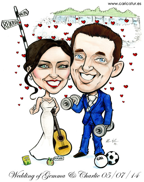Wedding Caricatures by Allan Cavanagh, Caricatures Ireland