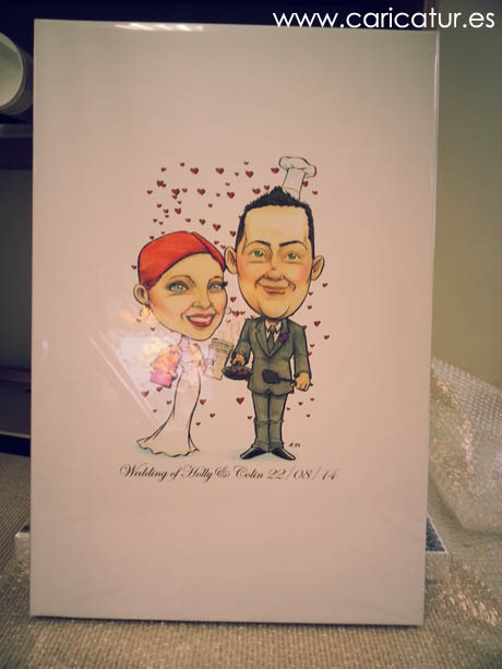 Canvas printing wedding photos