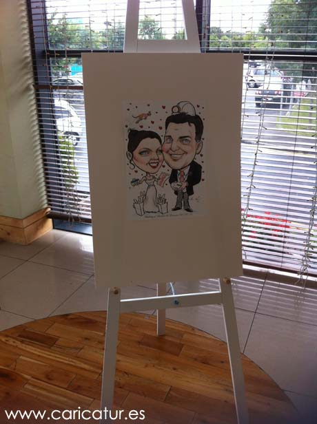 Wedding Signing Boards Caricatures Ireland