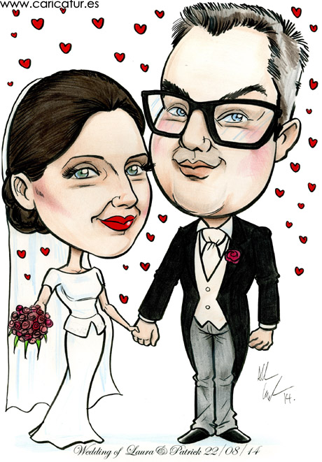 Caricatures Ireland by Allan Cavanagh for weddings