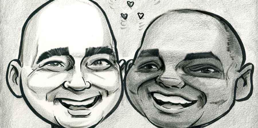 caricature-wedding-present