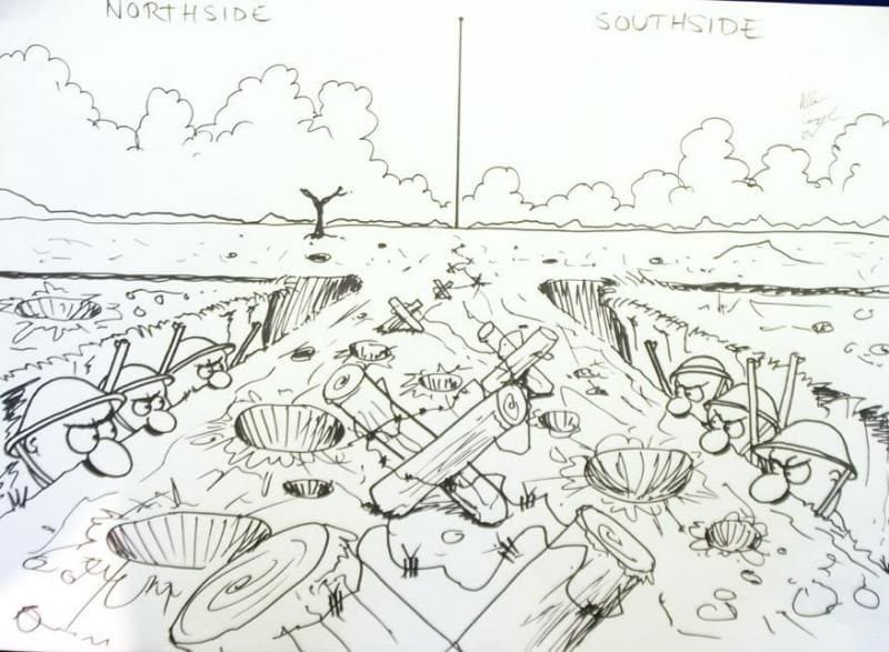 Northside Southside Dublin Cartoon