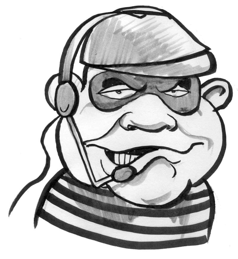 telephone small business scam cartoon