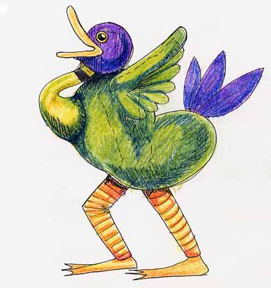 Macnas Duck Costume Design
