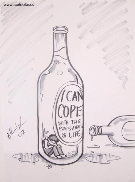 mental health cartoons A cartoon about teenagers and young people drinking alcohol to cope with mental health issues by Irish cartoonist Allan Cavanagh.