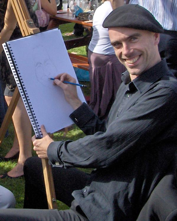 caricature artist Allan Cavanagh 2007