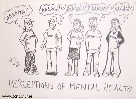 mental health cartoons A cartoon about how teenagers & young people perceive each other in relation to their own mental well-being by Irish cartoonist Allan Cavanagh.