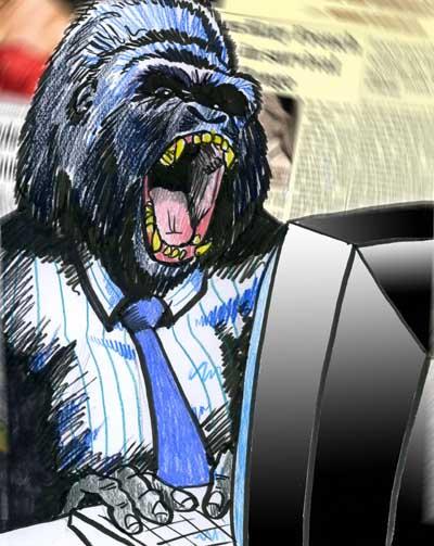 tabloid hack gorilla cartoon