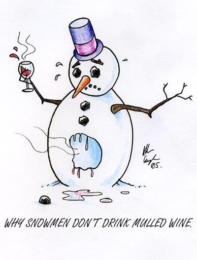 Funny Snowman Cartoon