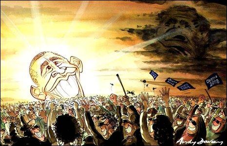 Barack Obama cartoon by Andy Davey