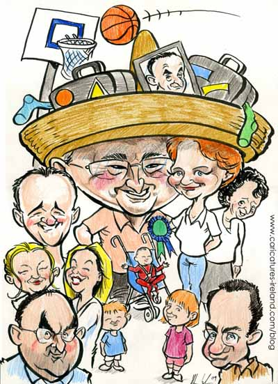 family-caricature-for-a-present