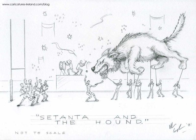 Setanta and the Hound Design Croke Park 2001