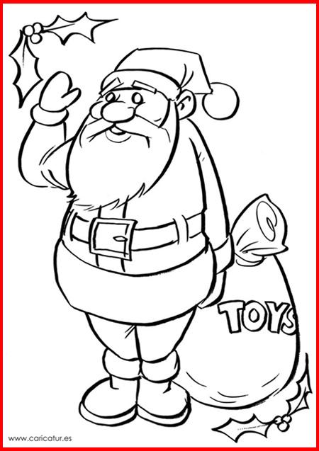 Santa To Colour Printable Christmas Caricatures Ireland By Allan