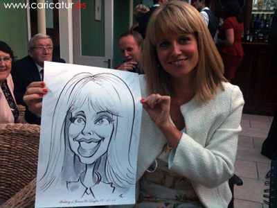 wedding drinks reception caricatures from Allan Cavanagh Rosleague House