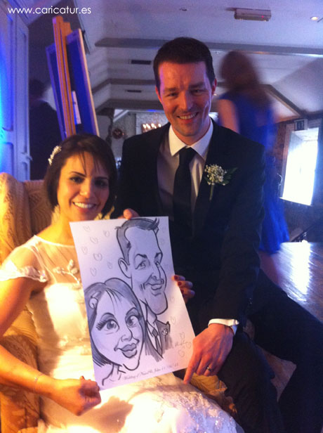 Live caricature entertainment from Allan Cavanagh of Caricatures Ireland!
