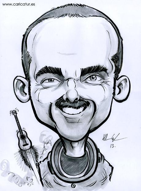 Chris Hadfield Caricature Canadian astronaut Commander Chris Hadfield by Irish cartoonist Allan Cavanagh of Caricatures Ireland.
