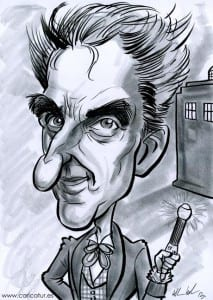 Picture of New Doctor actor Peter Capaldi by Allan Cavanagh of Caricatures Ireland