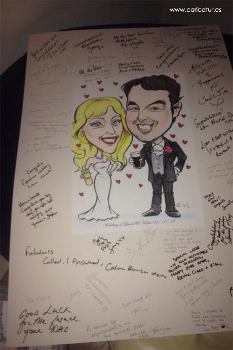 Wedding Signing Board by Allan Cavanagh Caricatures Ireland