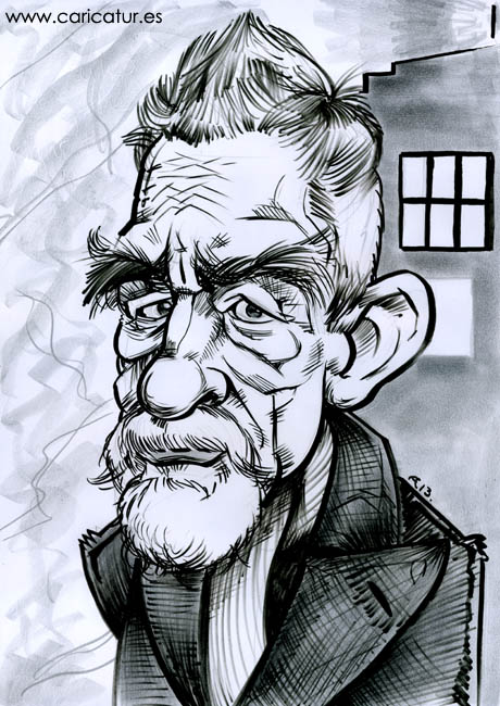 Caricature of John Hurt as the War Doctor from the Day of the Doctor by Allan Cavanagh
