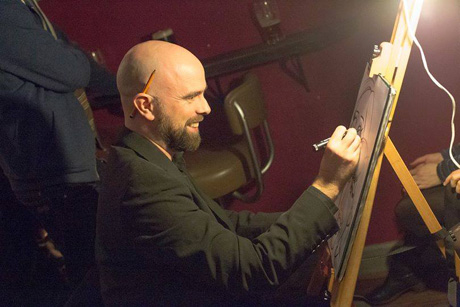 Artist Allan Cavanagh at work