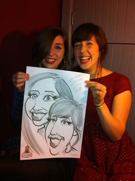 Live caricatures by Allan Cavanagh