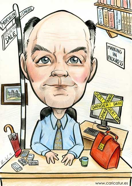Retirement present by Allan Cavanagh, Caricatures Ireland