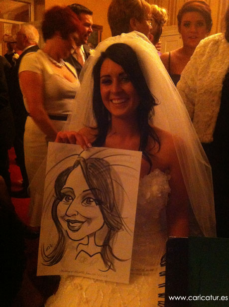 vienna woods hotel entertainmentSmiling bride with caricature by Allan Cavanagh
