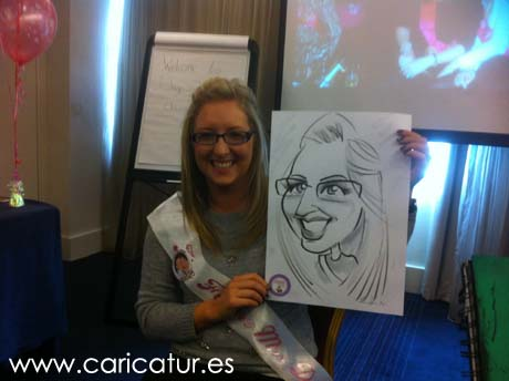Hen party entertainment all over Ireland by Allan Cavanagh Caricatures Ireland!