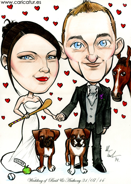 Wedding caricature artist Allan Cavanagh produces unique work all over Ireland