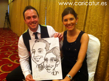 Live caricature art for weddings by Allan Cavanagh Caricatures Ireland