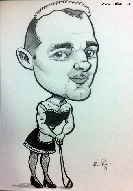 Paper Anniversary Ideas A Caricature On Paper Of Your Other Half