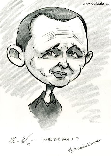 Caricature of TD Richard Boyd Barrett