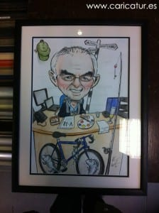 Framed caricature retirement gift Ireland