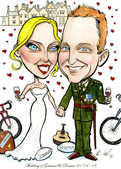 Unusual creative wedding invitation artwork in Ireland