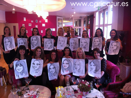 live caricatures for hen parties caricatures ireland by allan