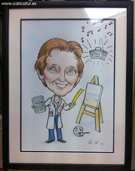Framed caricature retirement present by Allan Cavanagh available all over Ireland and UK