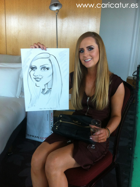 Hen party caricatures by Allan Cavanagh!