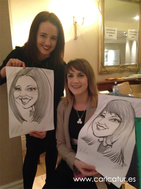 Live caricatures Ireland by Allan Cavanagh