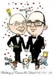 caricature for wedding by Allan Cavanagh, Caricatures Ireland