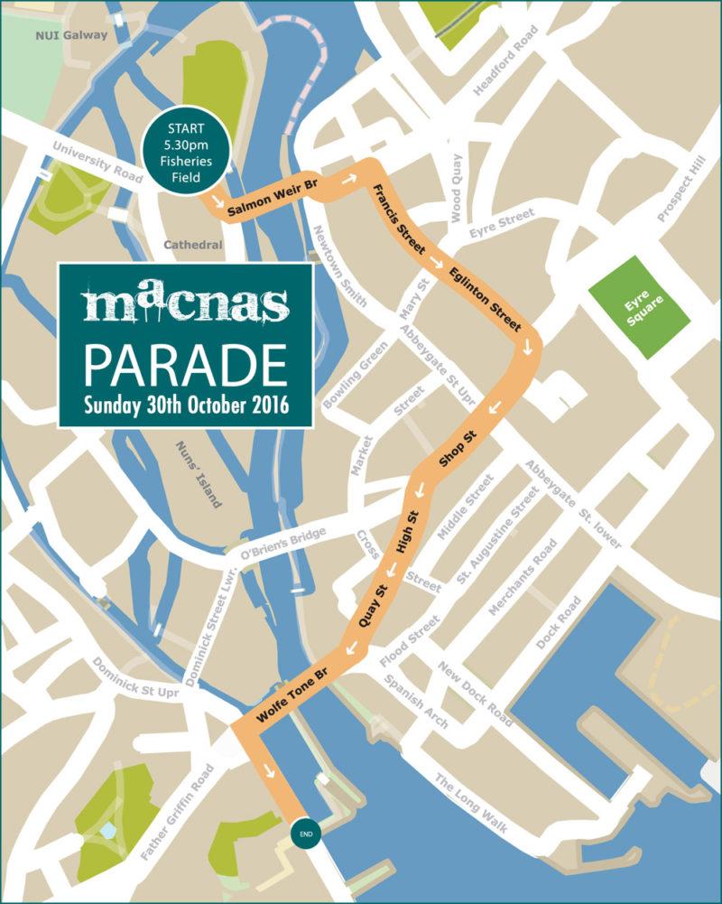 Macnas Parade Route Halloween 2016