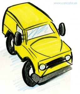 Jeep- Free Cartoon Yellow Jeep