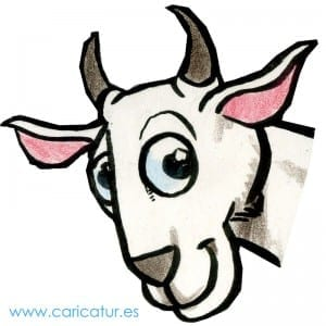 Goat Cartoon- Free Happy Goat Cartoon
