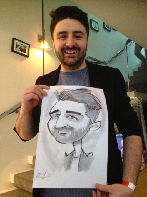 live caricatures by Allan Cavanagh, Ireland