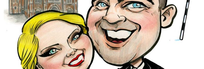 GAA wedding caricatures