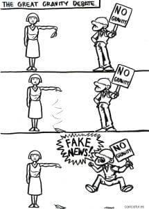 Cartoon about fake news