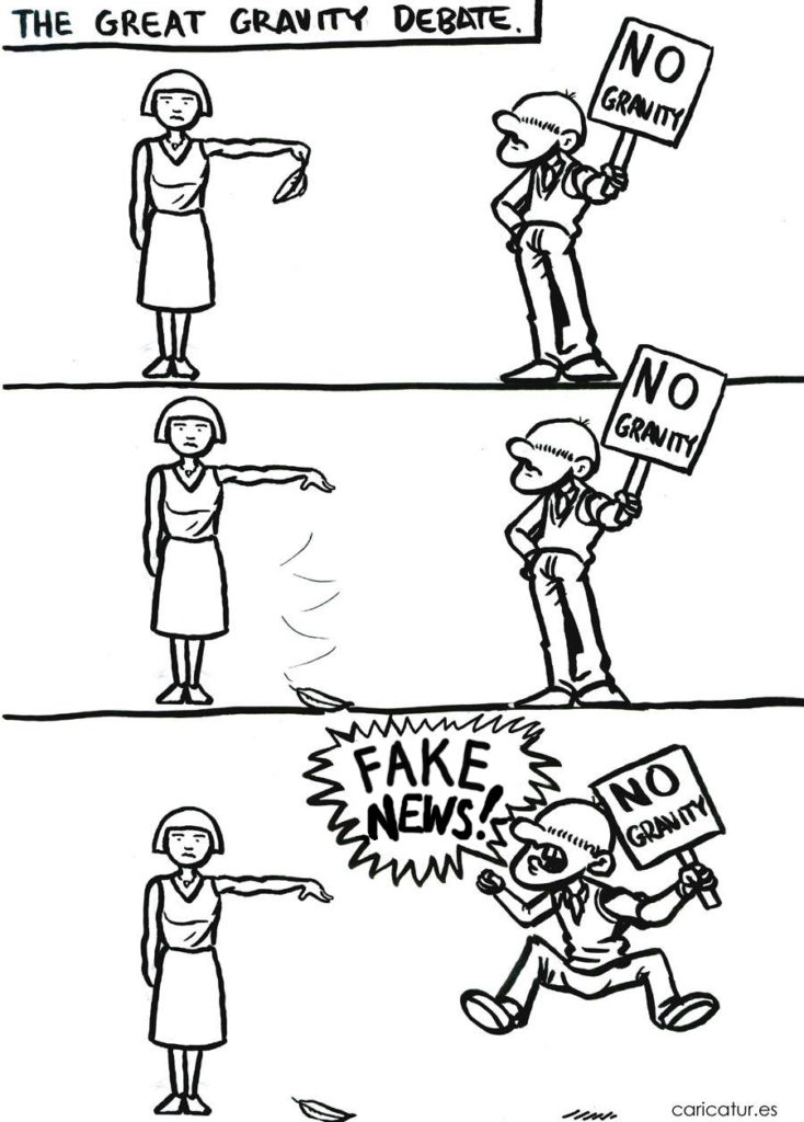 Cartoon about fake news